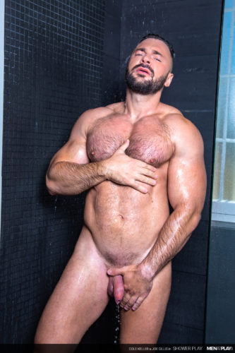 cole keller naked bodybuilder shower